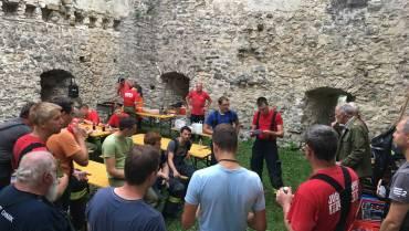 Montagsübung – Brand auf der Burgruine Losenstein