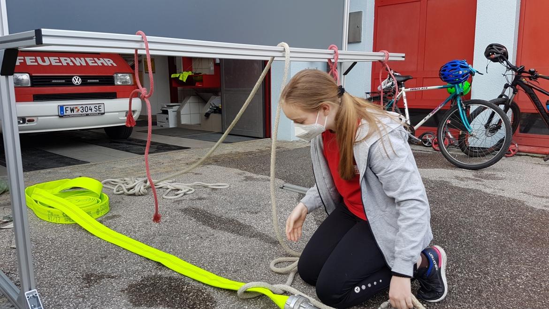 Neue Bewerbsbahn für die Feuerwehrjugend Losenstein