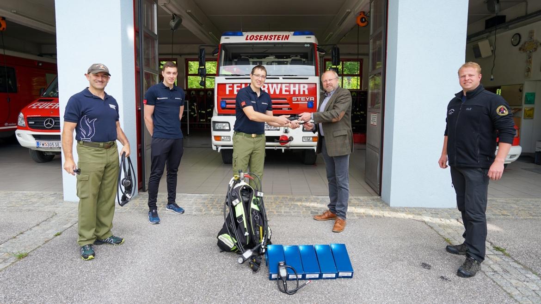 Feuerwehr mit Tauchcomputer ausgerüstet